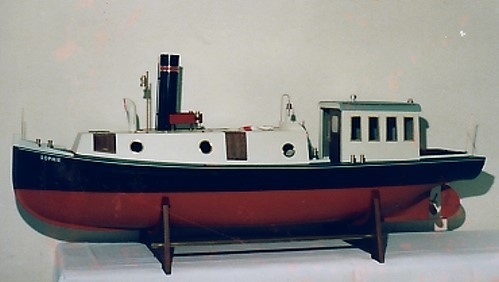 "Steamboat ""Sophie""incl. set of fittings+shaft+propeller"